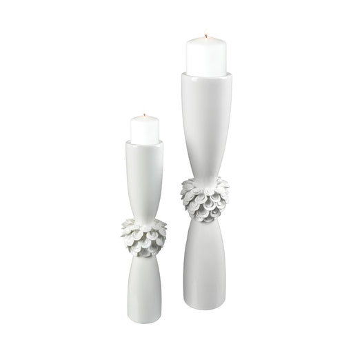 9167-062/S2 Tranquillo Candle Holder Gloss White