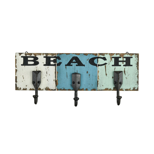 917455 Beach Wall Hook Black, Weathered Shores