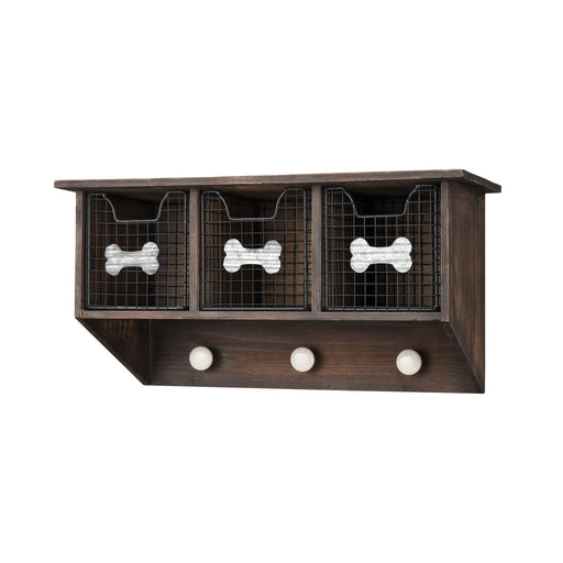 917745 Countryside Pet Wall Organizer Roast, Rustic