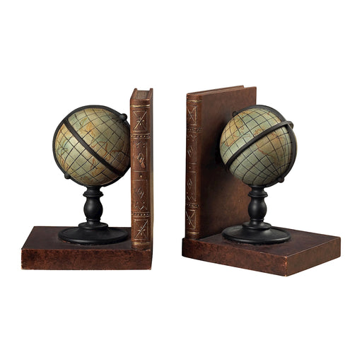93-9224 Atlas Book Ends Brown, Green
