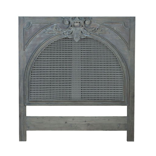 954510K King Caned Headboard Weathered Grey