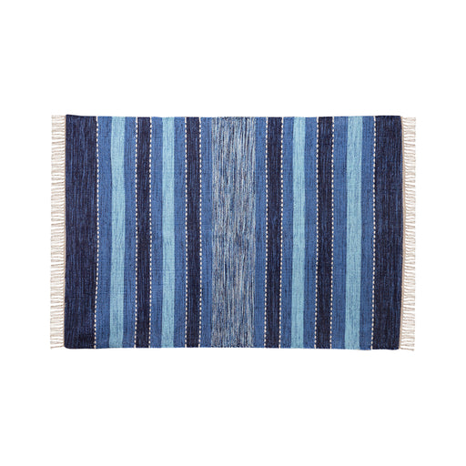 969027 Santos Area Rug 4 X 6 Blue, Crema, Soft Denim