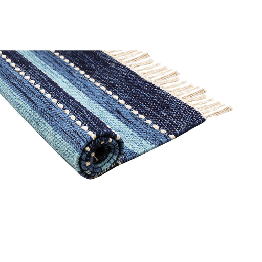 969119 Santos Area Rug 2 X 3 Blue, Soft Denim, Crema
