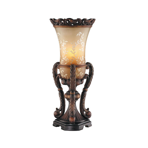 97847 Chantilly Scroll Base Uplight Bronze, Hand-Painted