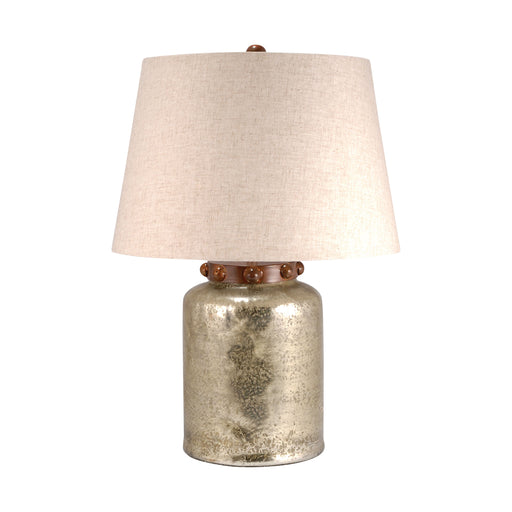 981005 Calico Lamp Large Antique Wheat, Brindle Copper, Sand