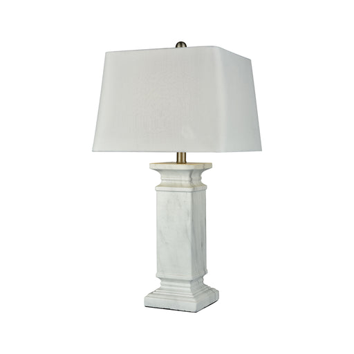 981418 Tunisia Lamp Marble, White
