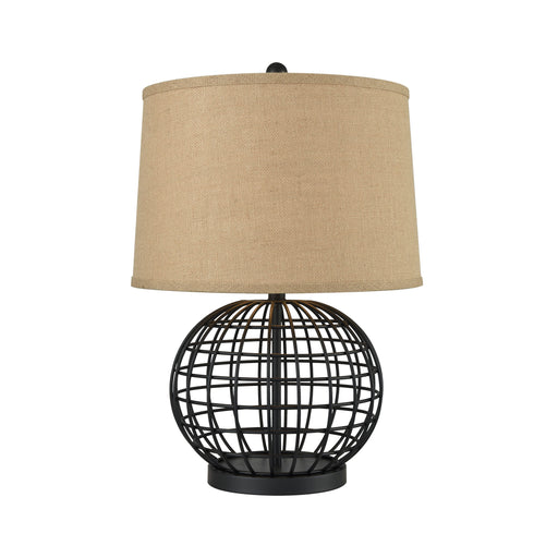 981470 Orbison Lamp Black, Burlap