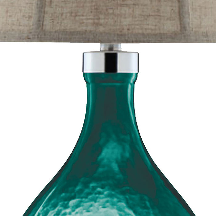 99691 Ariga Glass Table Lamp Blue