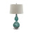 99693 Atria Glass Table Lamp Blue, Clear, White