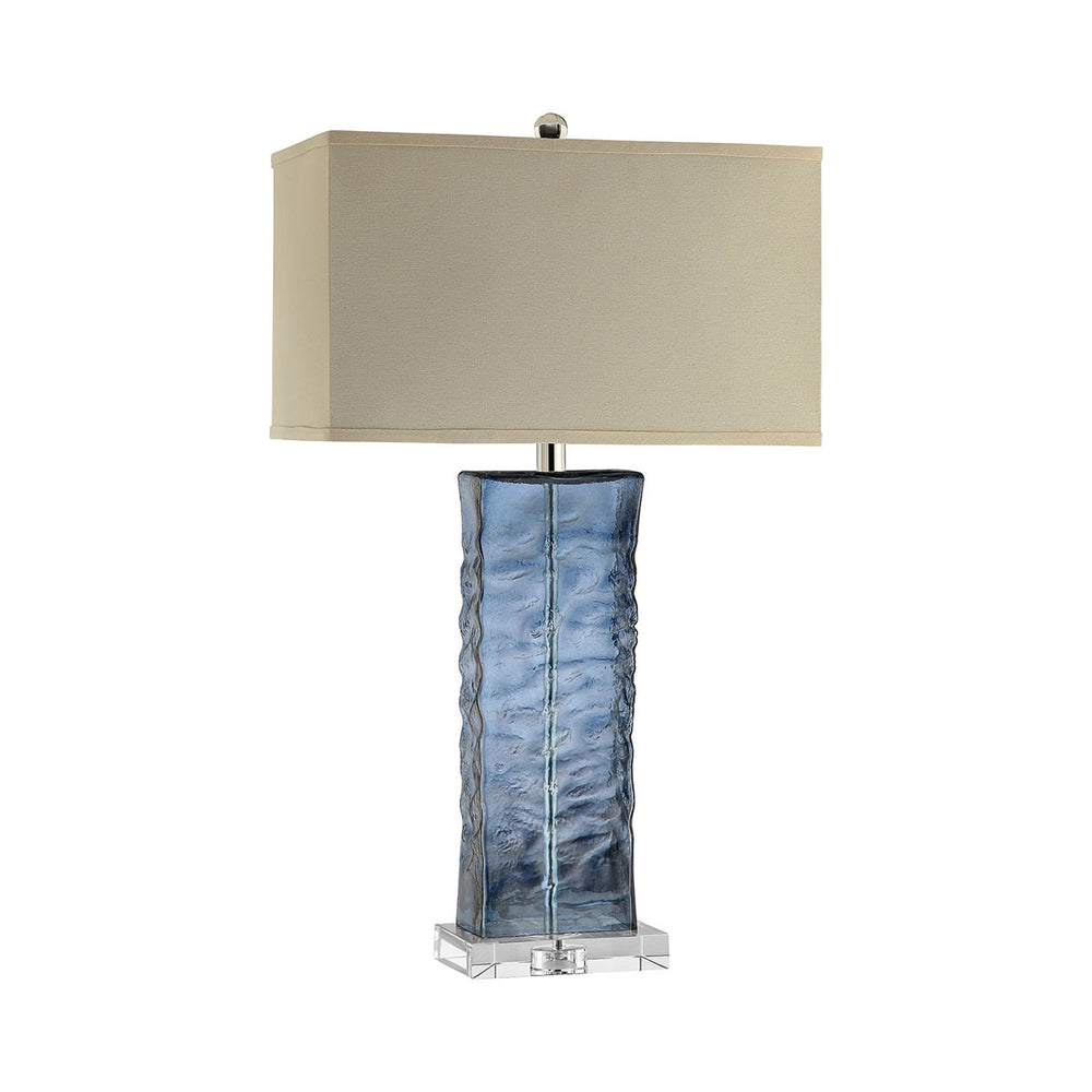 99763 Arendell Table Lamp Blue, Clear