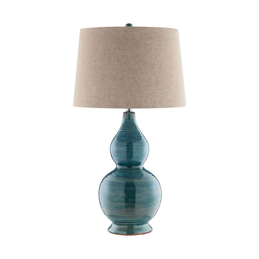 99784 Lara Table Lamp Blue, Golden Brown