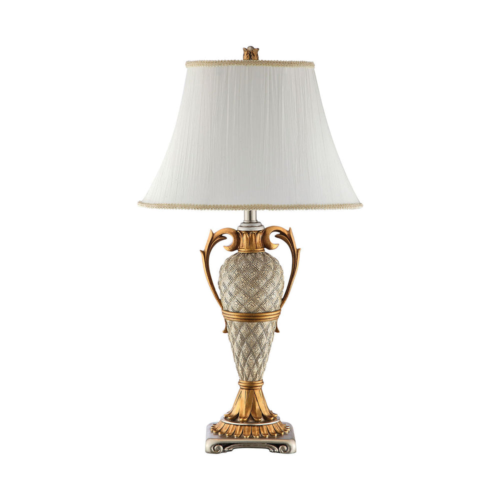 99858 Clarion Table Lamp Antique Gold, Silver