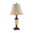 99901 Tate Table Lamp Antique Bronze, Amber