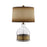 99906 Serenity Table Lamp Antique Brass, Clear