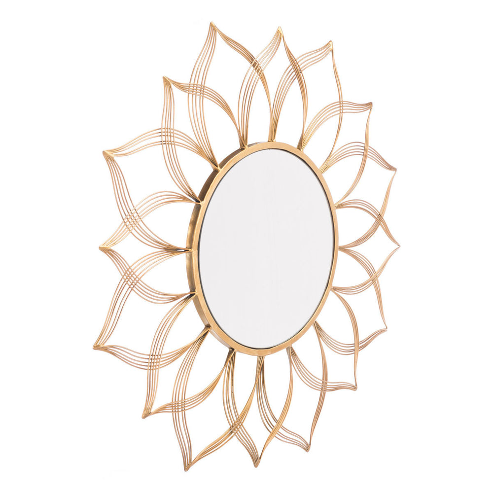 Flower Gold Mirror