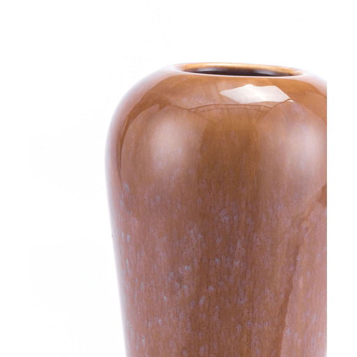 Allium Short Vase Brown