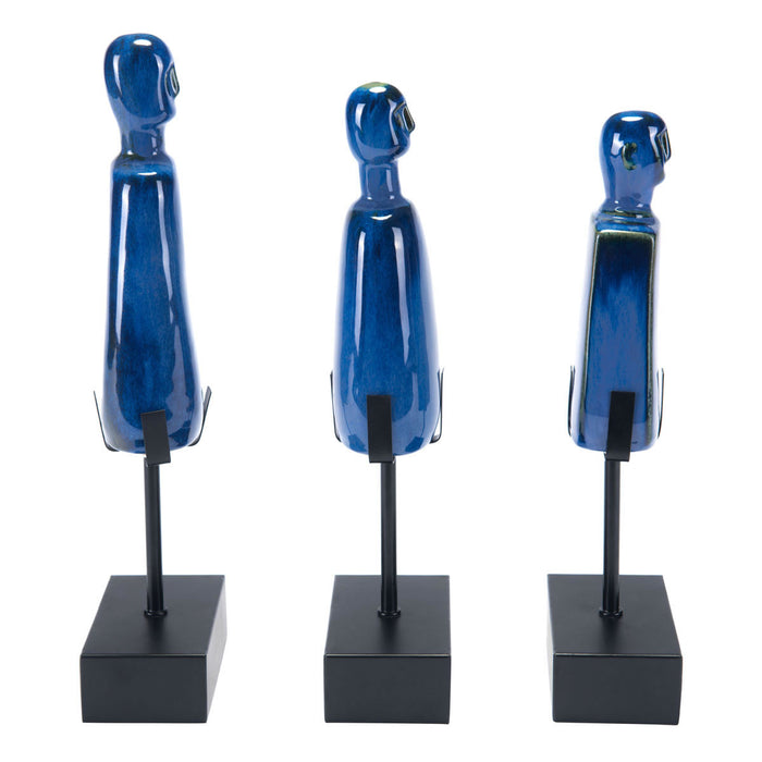 Salar Set Of 3 Figurines Blue