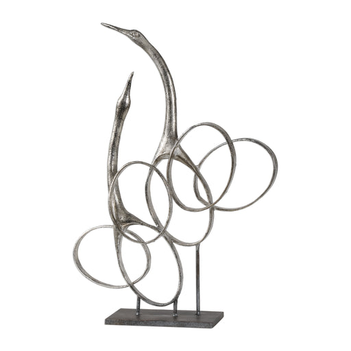 Admiration Silver Bird Sculpture