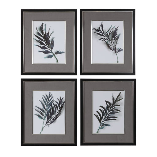 Eucalyptus Leaves Framed Prints Set/4