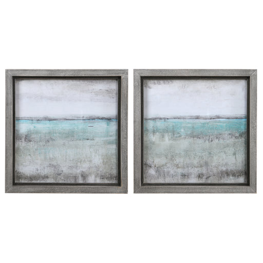 Aqua Horizon Framed Prints, Set/2
