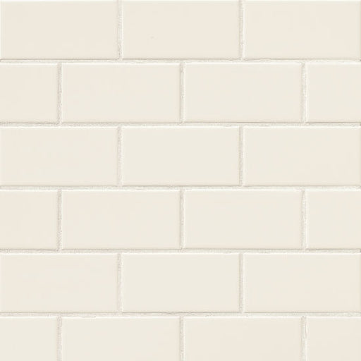 "Traditions Bright (Gloss) 3"" x 6"" Wall Tile in Biscuit, Sold by the Carton"