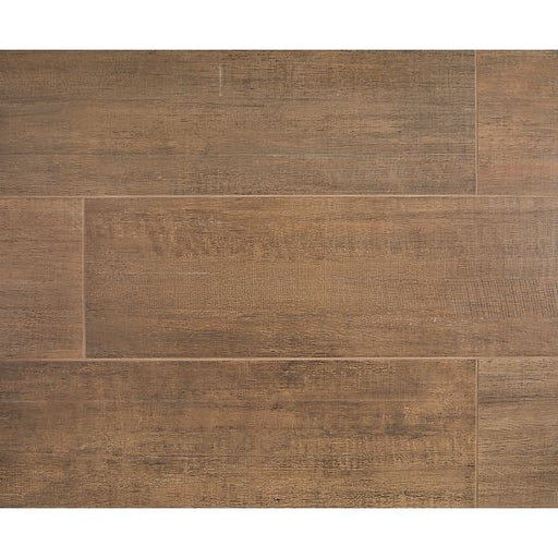 "Barrique 8"" x 40"" Floor and Wall Tile in Brun, Sold by the Carton"