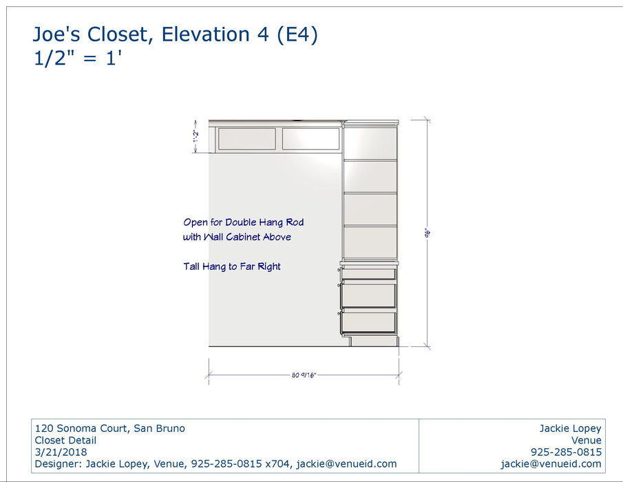 Closet Package (Sonoma Court)