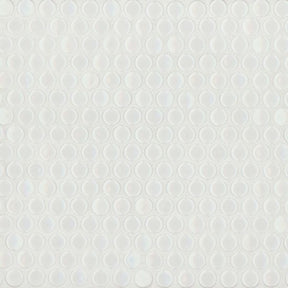 "360 3/4"" X 3/4"" Floor & Wall Mosaic in White Gloss, Sold by the Piece"