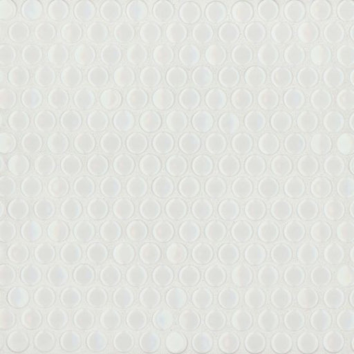 "360 3/4"" x 3/4"" Floor and Wall Mosaic in White Gloss, Sold by the Piece"