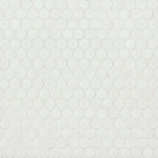 "360 3/4"" x 3/4"" Floor and Wall Mosaic in White Matte, Sold by the Piece"