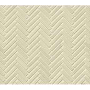 "90 1/2"" X 2"" Floor & Wall Mosaic in off White, Sold by the Piece"