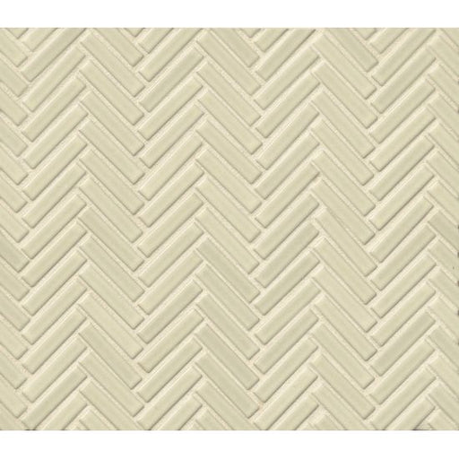 "90 1/2"" x 2"" Floor and Wall Mosaic in Off White, Sold by the Piece"