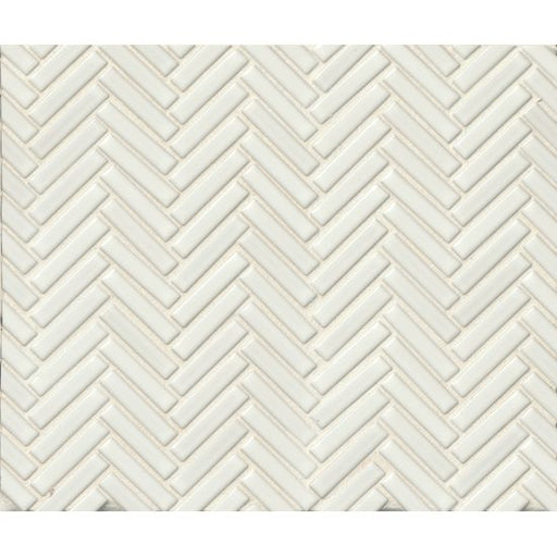 "90 1/2"" x 2"" Floor and Wall Mosaic in White, Sold by the Piece"