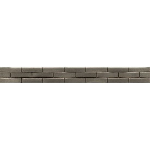 "Ambiance 1.25"" x 12"" Trim in Brushed Nickel, Sold by the Piece"