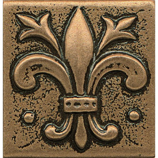 "Ambiance Flo-de-Lis 2"" x 2"" Trim in Bronze, Sold by the Piece"