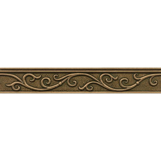 "Ambiance Gothic Leaf 2"" x 12"" Trim in Bronze, Sold by the Piece"