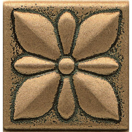 "Ambiance Jasmine Flower 2"" x 2"" Trim in Bronze, Sold by the Piece"