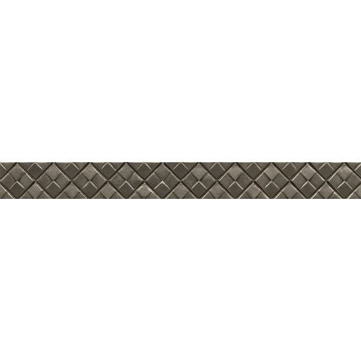 "Ambiance Matrix City 1.25"" x 12"" Trim in Brushed Nickel, Sold by the Piece"