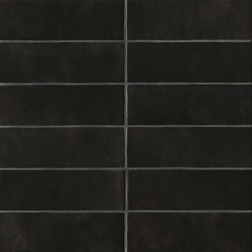 "Cloe 2.5"" x 8"" Wall Tile in Black, Sold by the Carton"