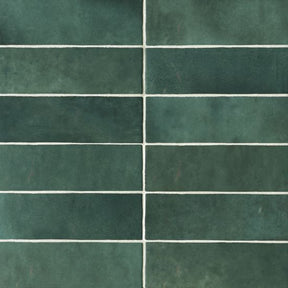 "Cloe 2.5"" X 8"" Wall Tile in Green, Sold by the Carton"