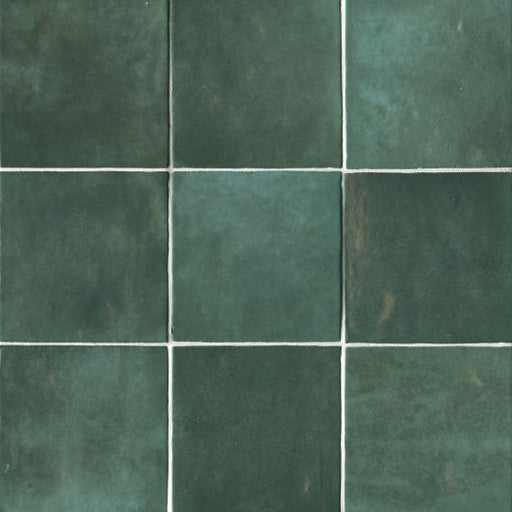 "Cloe 5"" x 5"" Wall Tile in Green, Sold by the Carton"