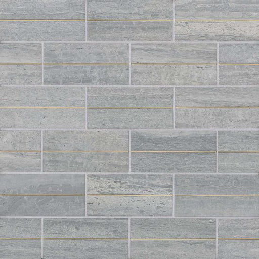 "Ferrara 3"" x 6"" Decorative Tile in Argento, Sold by the SF"