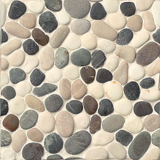 Hemisphere Unglazed Floor and Wall Pebble Mosaic in Malaga Bay, Sold by the Piece