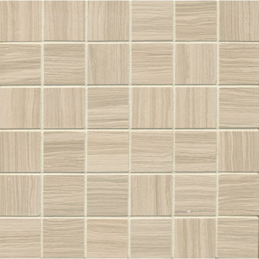 "Matrix 2"" x 2"" Floor and Wall Mosaic in Classic Tan, Sold by the Piece"