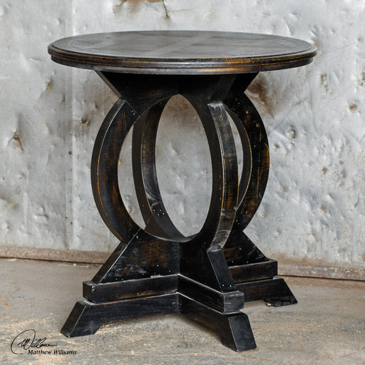 Maiva Black Accent Table
