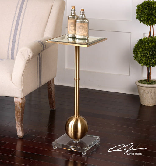 Laton Mirrored Accent Table