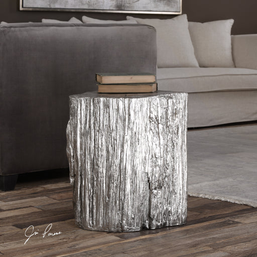 Cambium Silver Tree Stump Stool