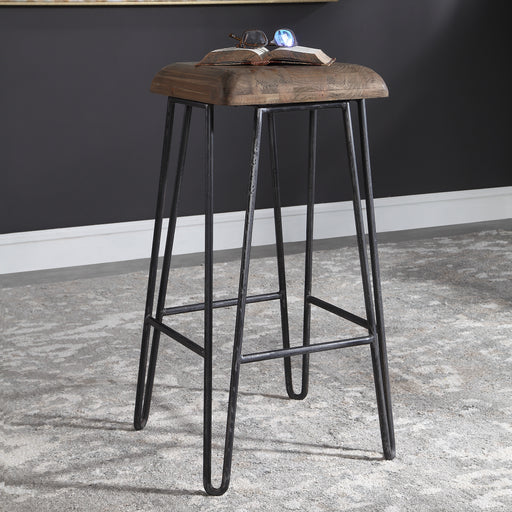 Albie Industrial Bar Stool