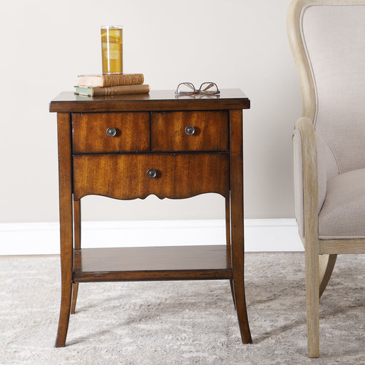 Carmel Wood End Table
