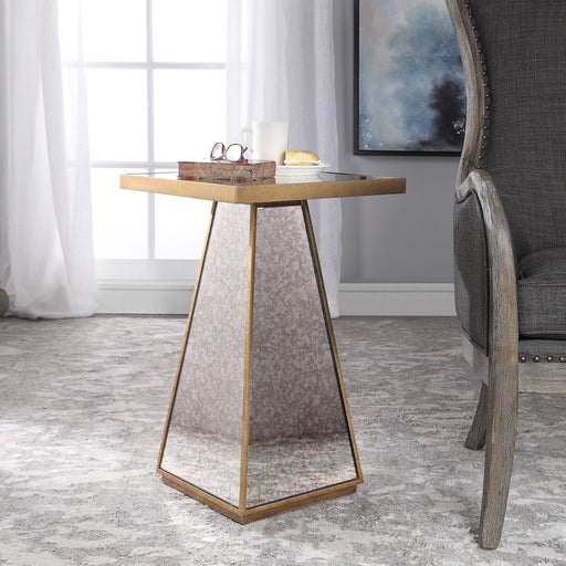 Atlee Mirrored Accent Table